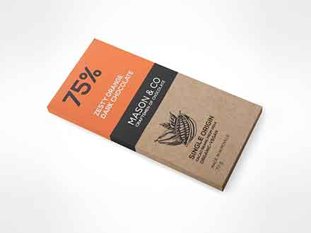 Wide Chocolate Packaging Mockup