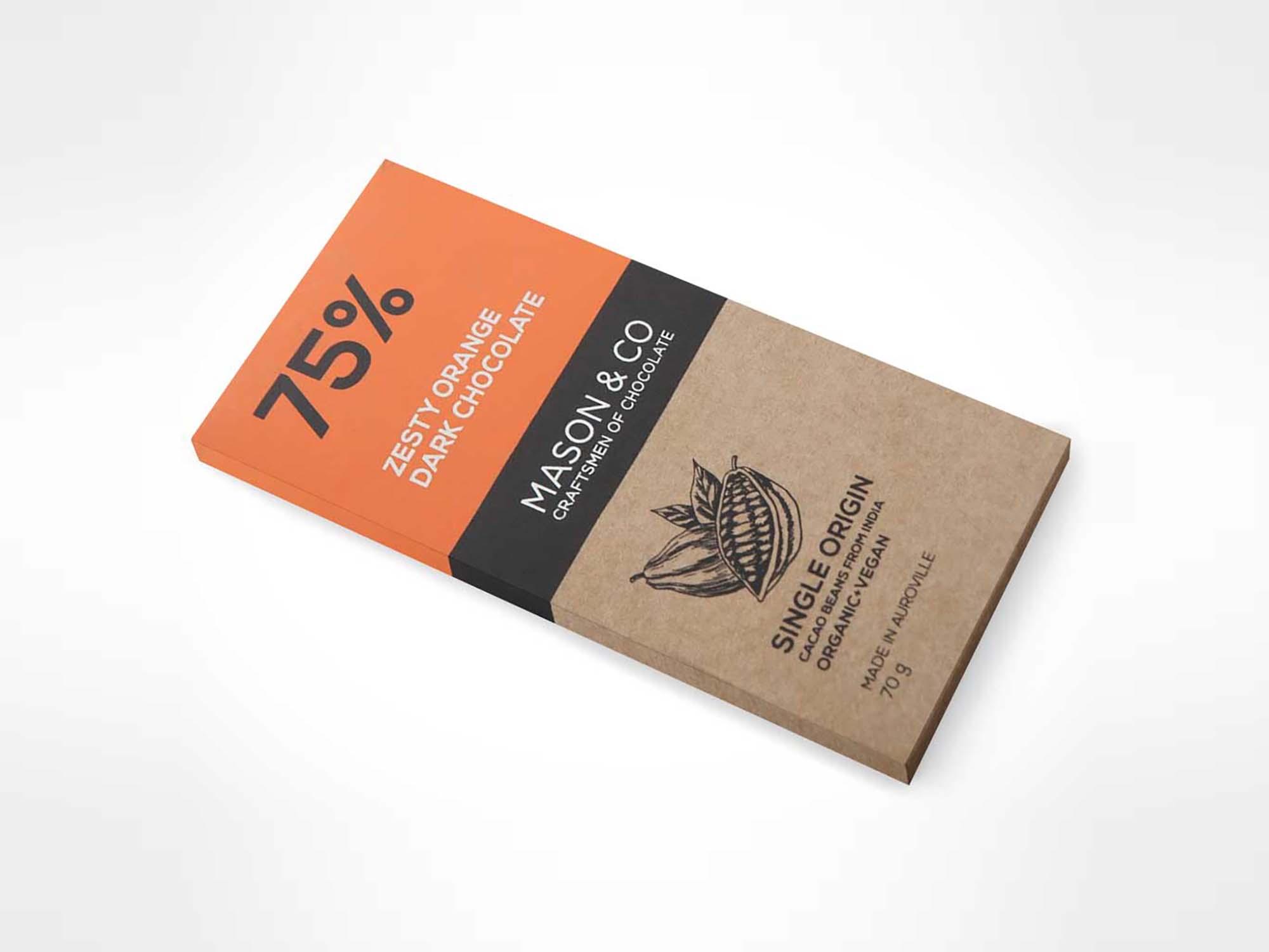 Wide Chocolate Packaging Mockup