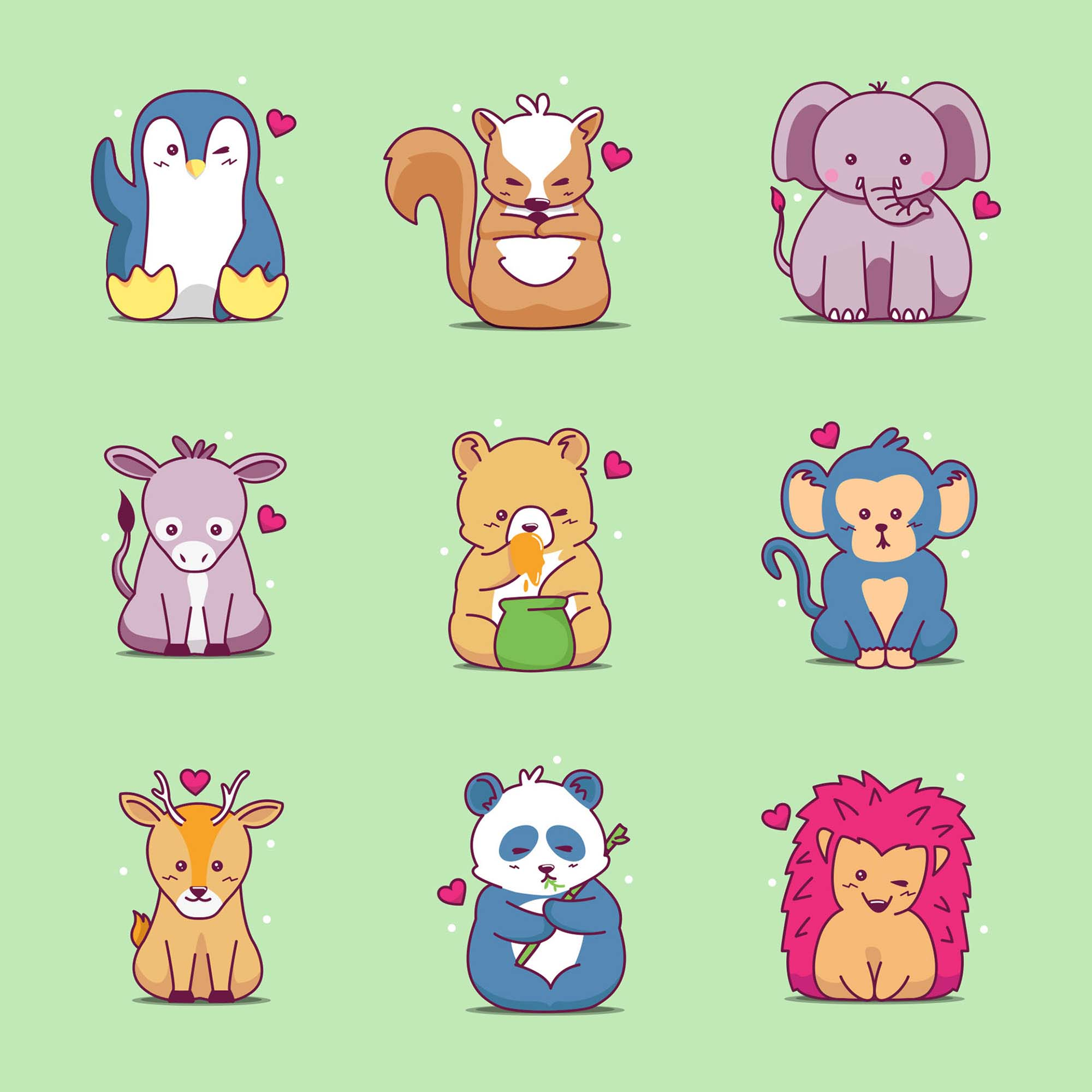 Wild Animals Icons