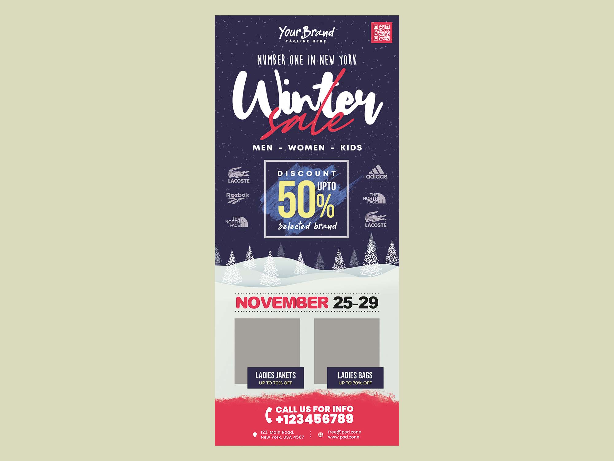 Winter Sale Rollup Banner Template 2