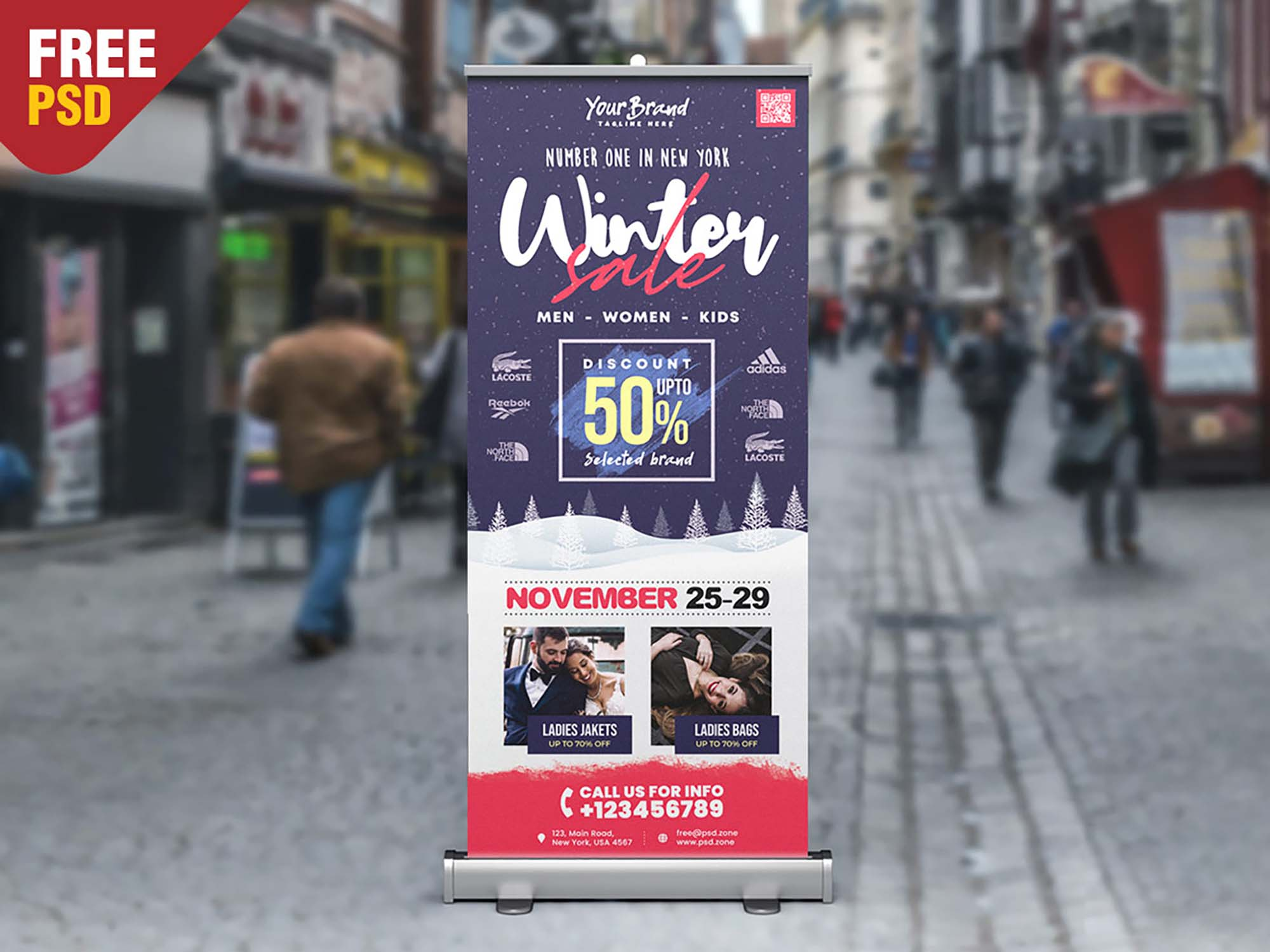 Winter Sale Rollup Banner Template