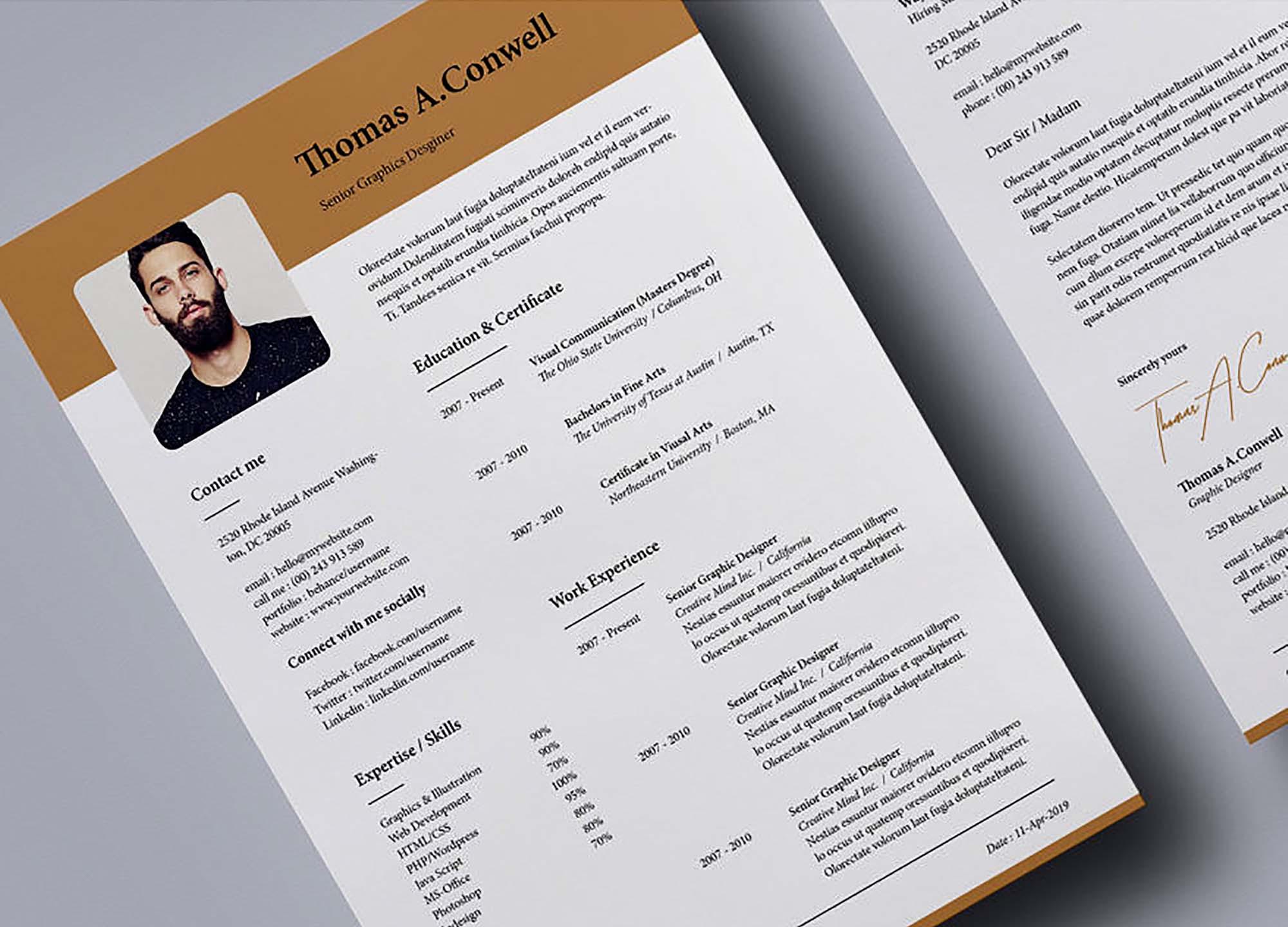 2 Column Resume Template 3