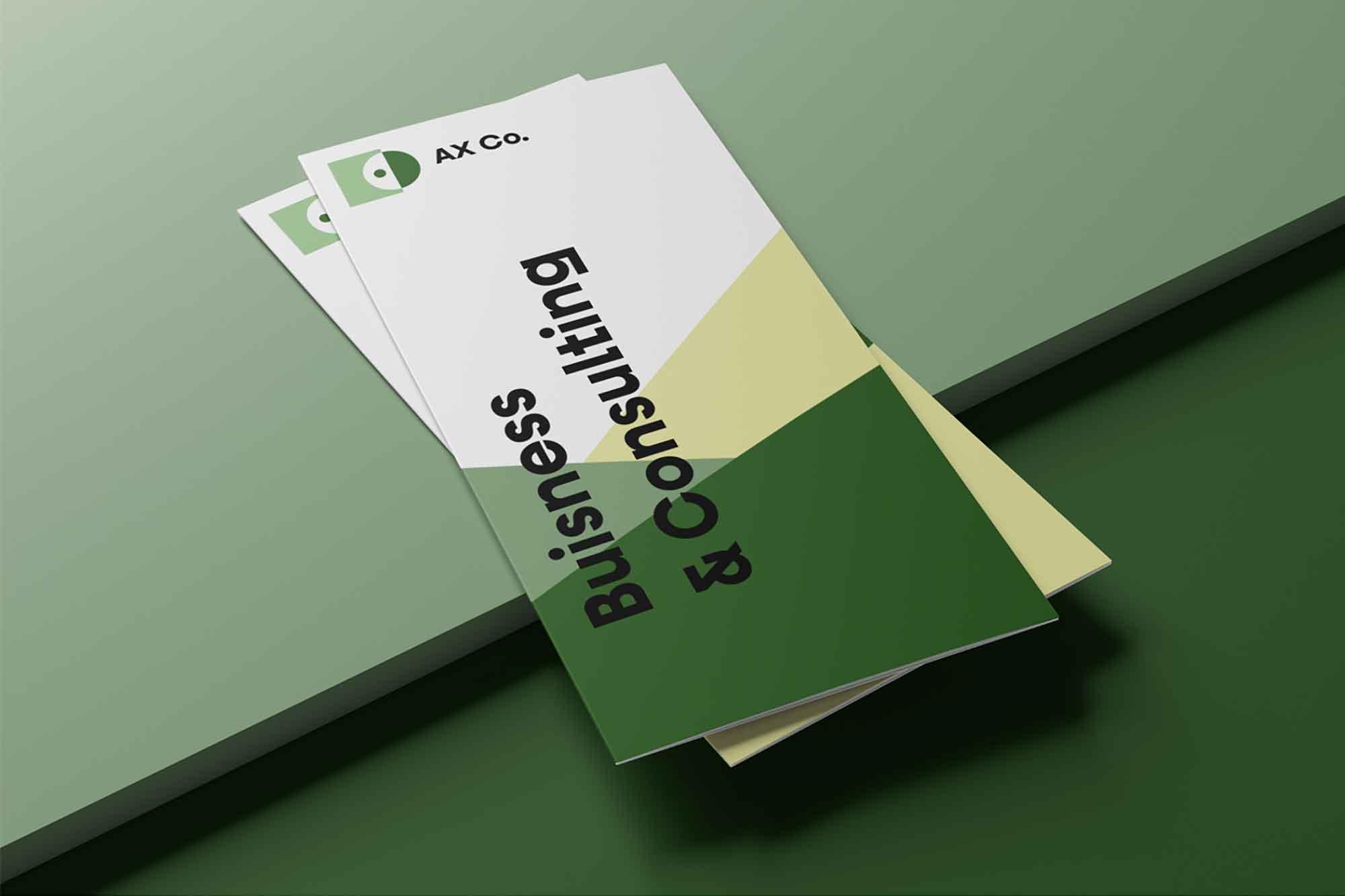 2 Trifold Brochure Mockups