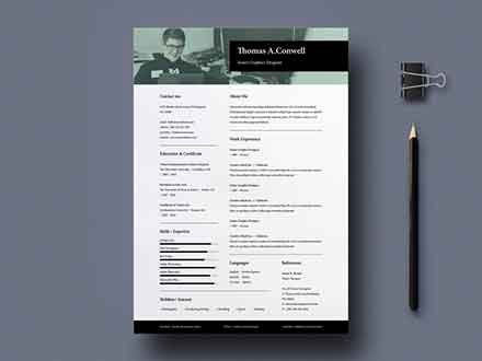 A4 and US Resume Template