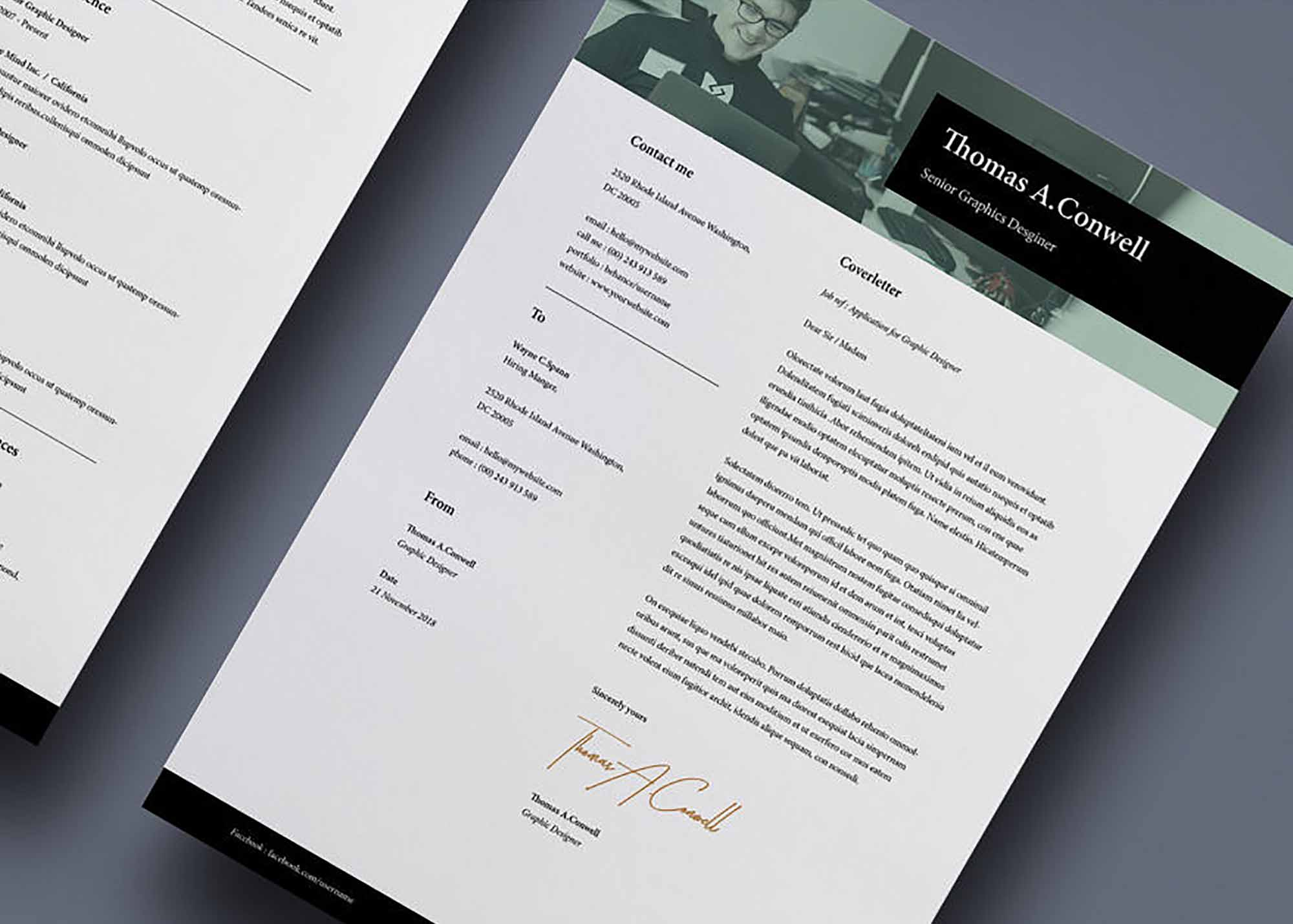 A4 and US Resume Template 1