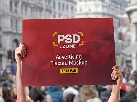 Advertising Placard Mockup