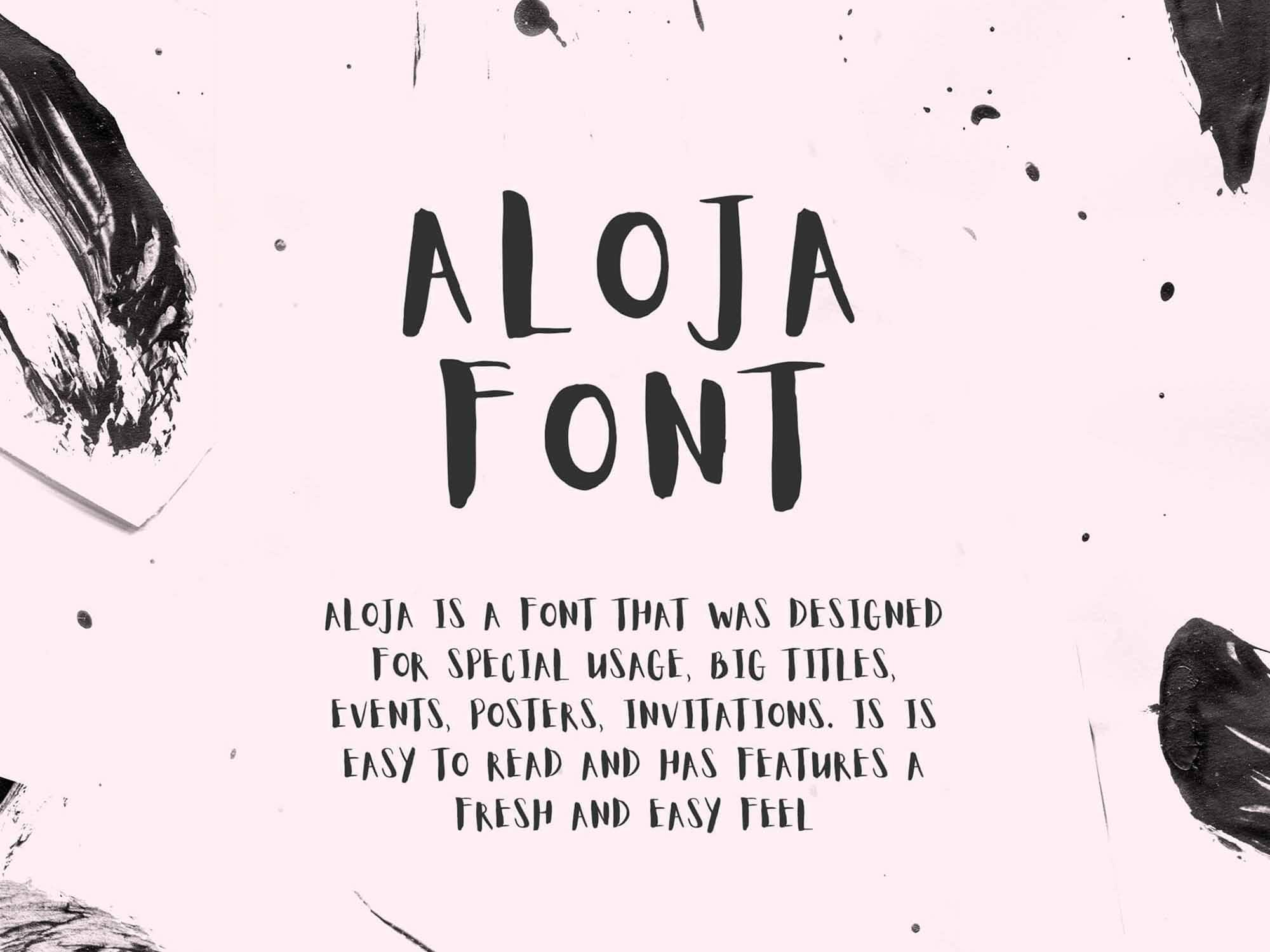 Aloja Handwritten Font 2