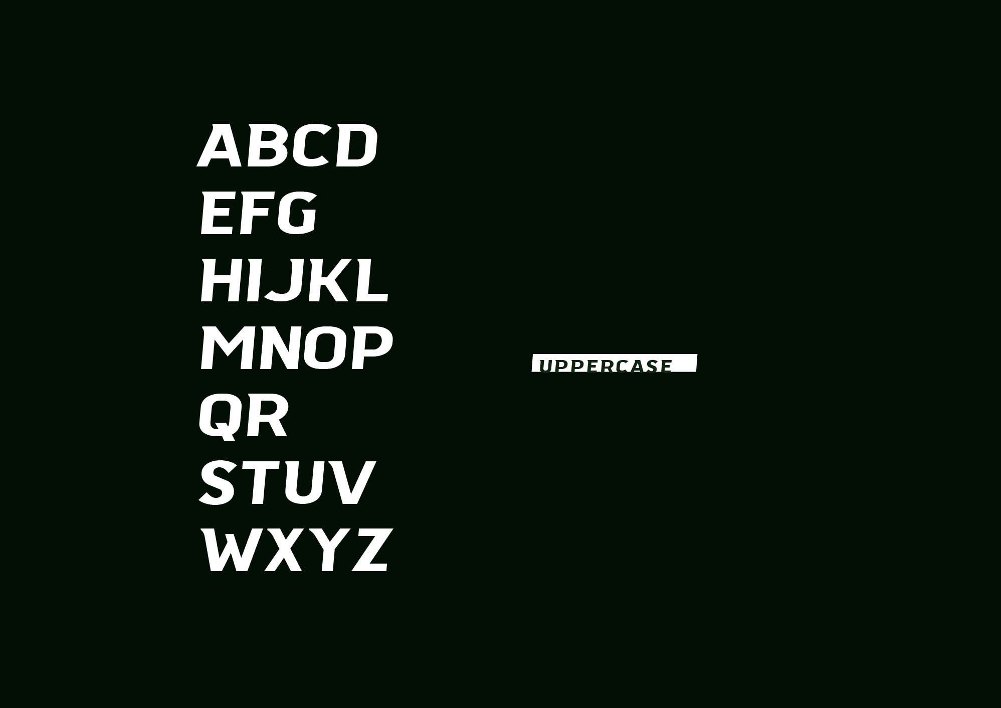 Authein Font Letters