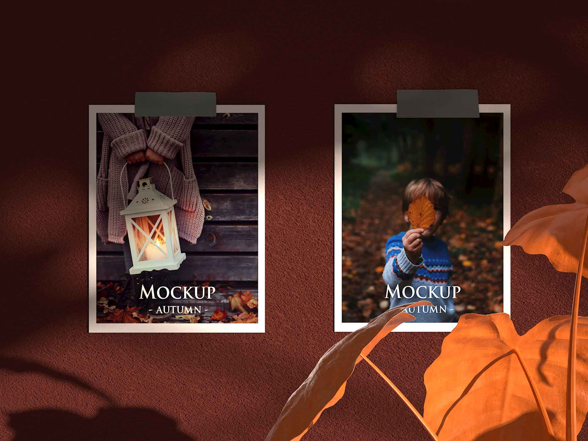 Autumn Mood Board Mockup