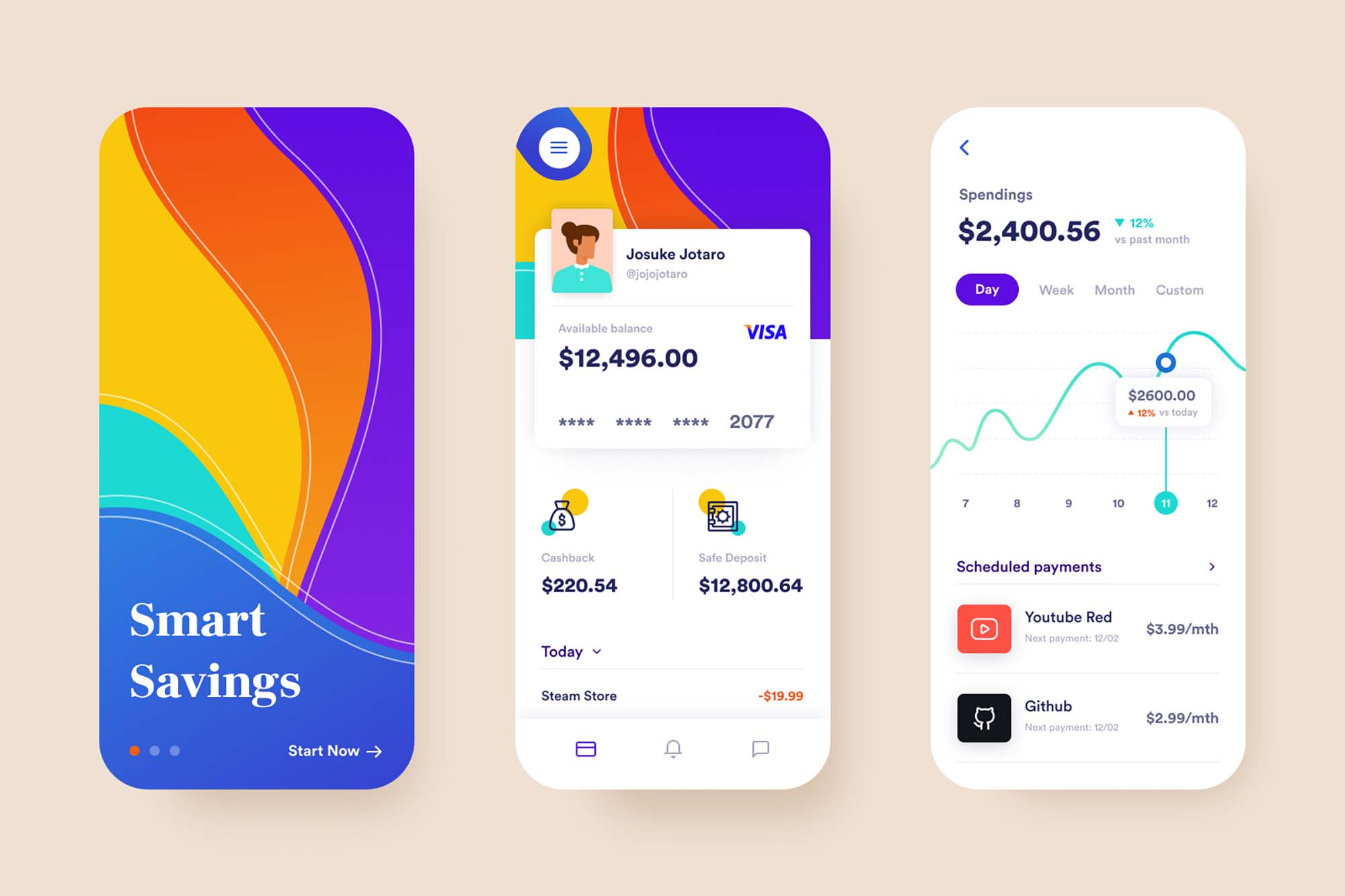 Bank App Concept Template