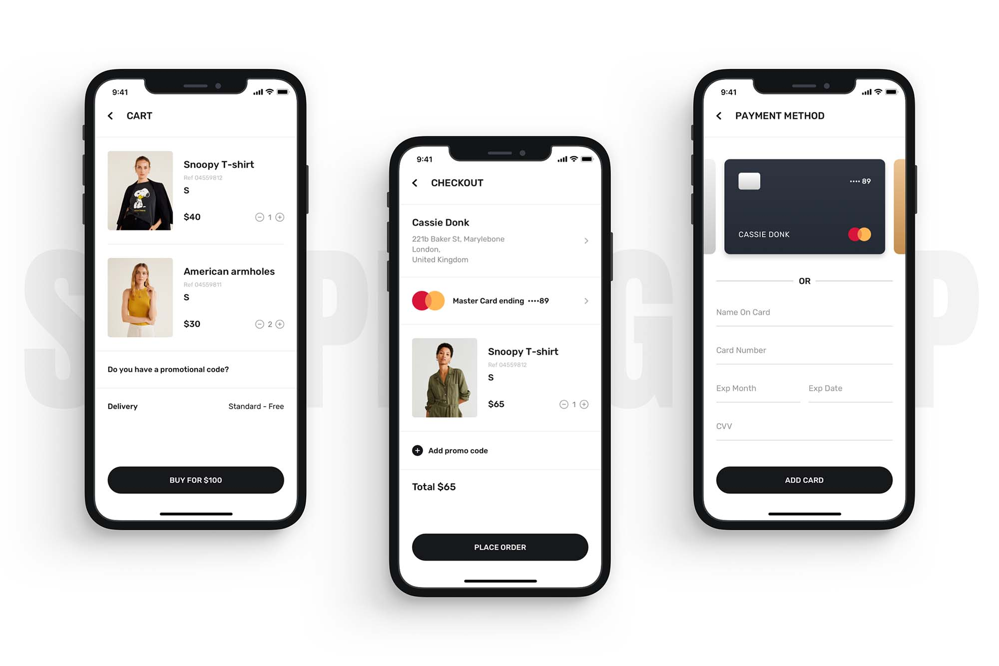 Blume Shopping App UI Kit Template 3