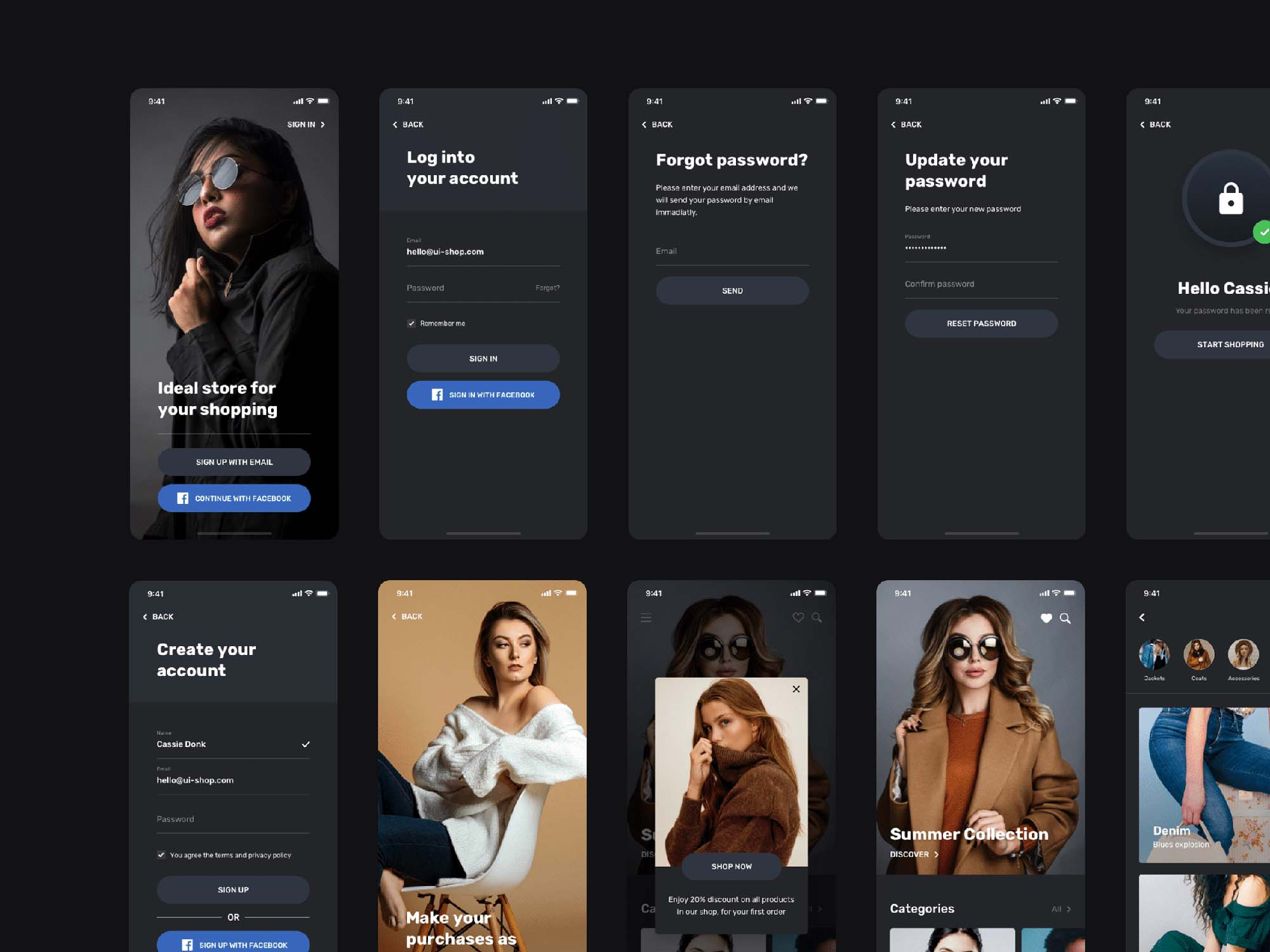Blume Shopping App UI Kit Template 5
