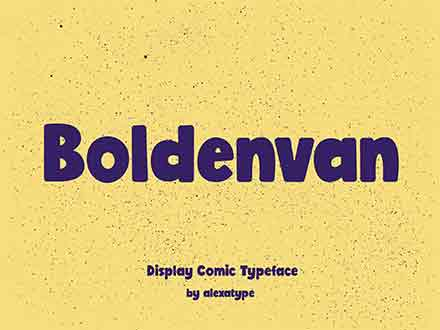 BoldenVan Display Font