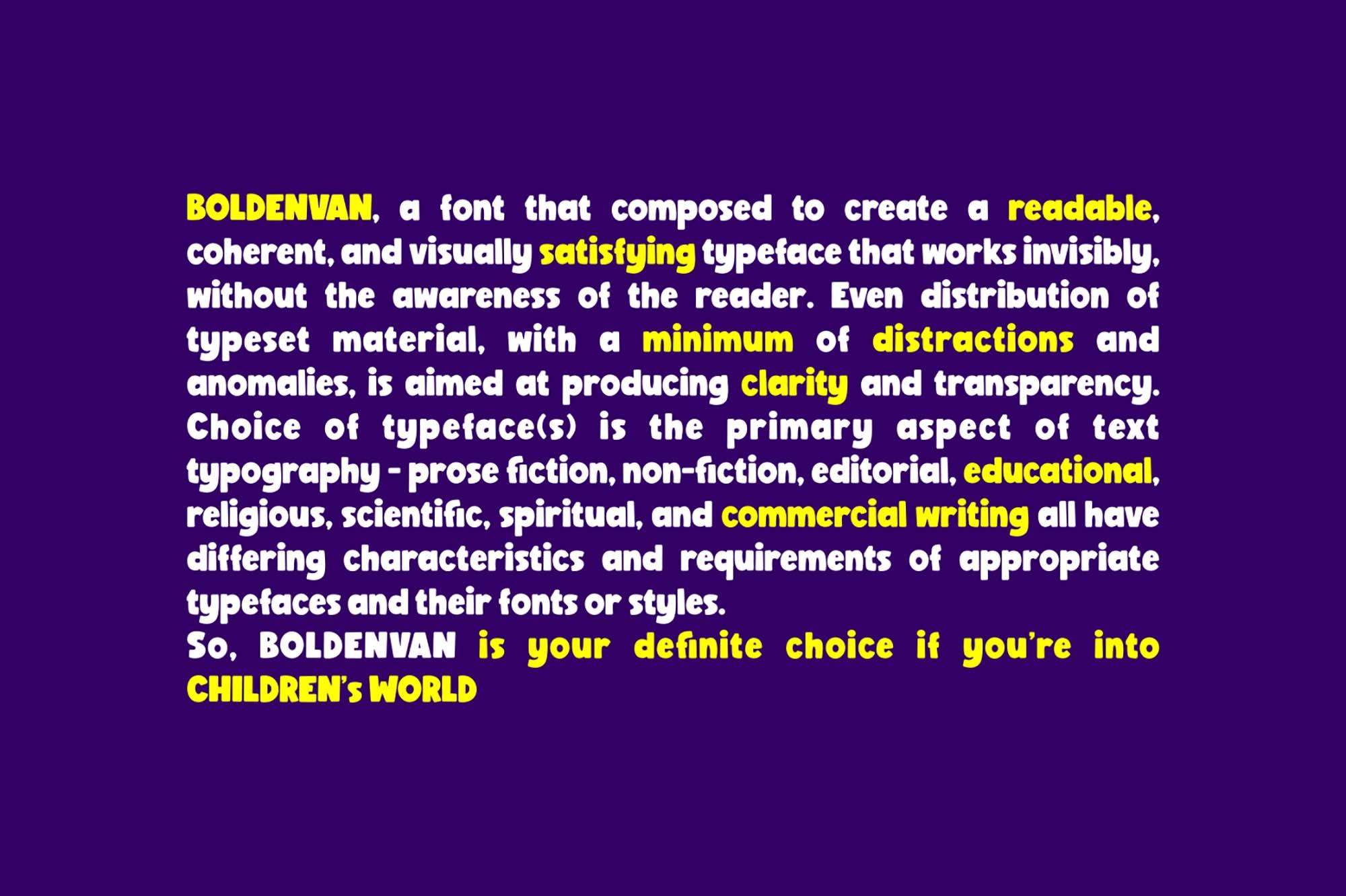 BoldenVan Display Font 4