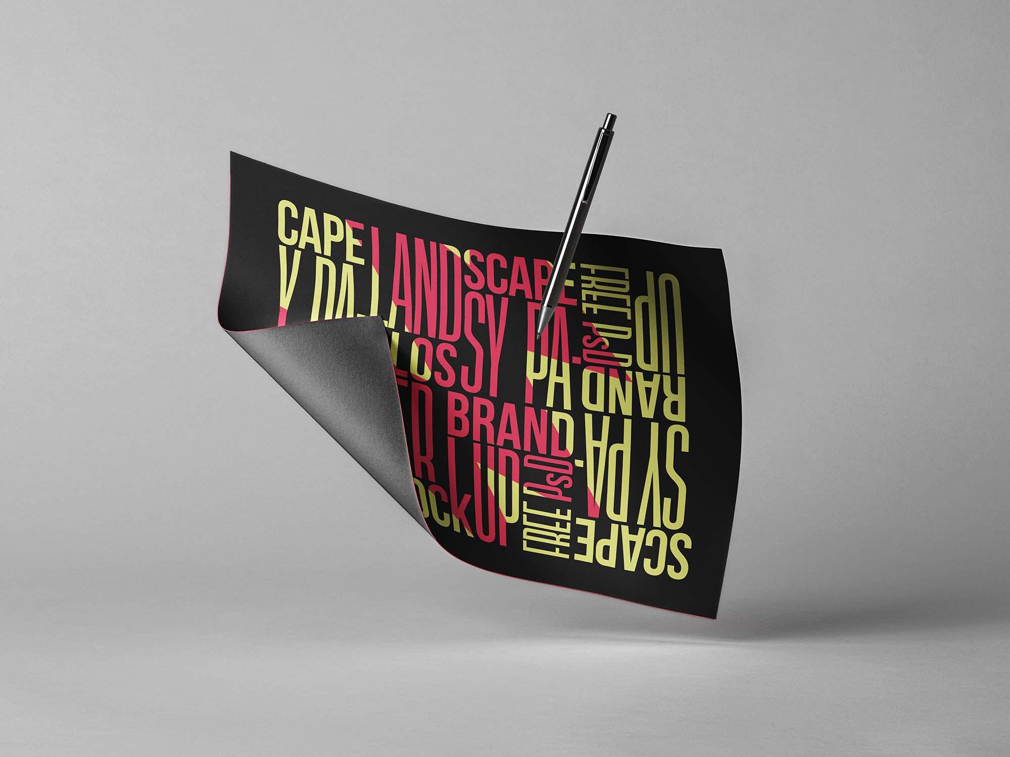 Brand Landscape Paper Mockup
