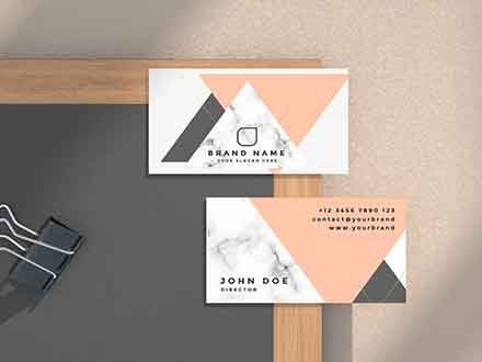 Business Card Scene Mockup