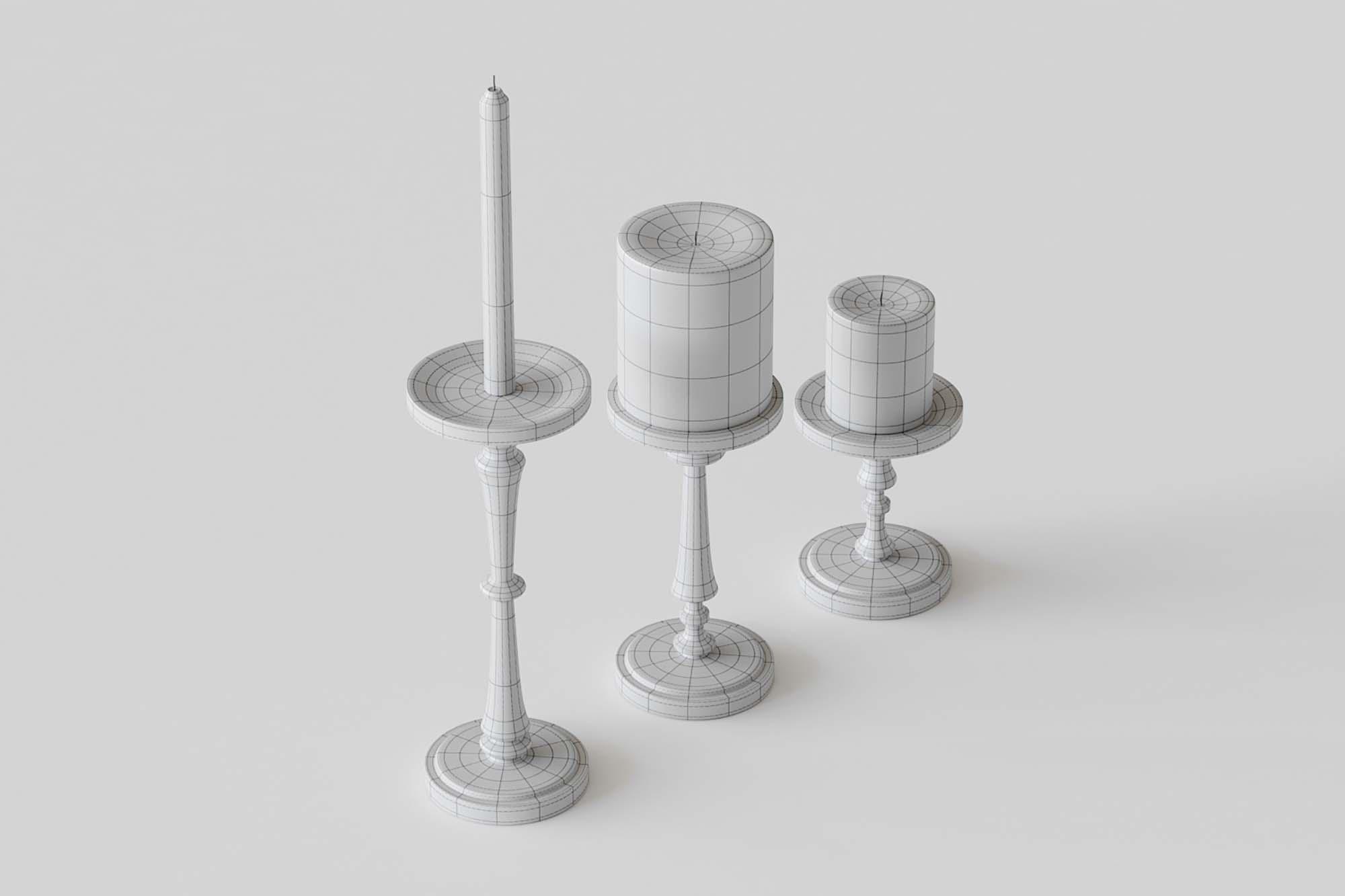 Candlesticks 3D Models 2