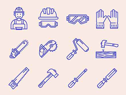 Carpenter Vector Icons