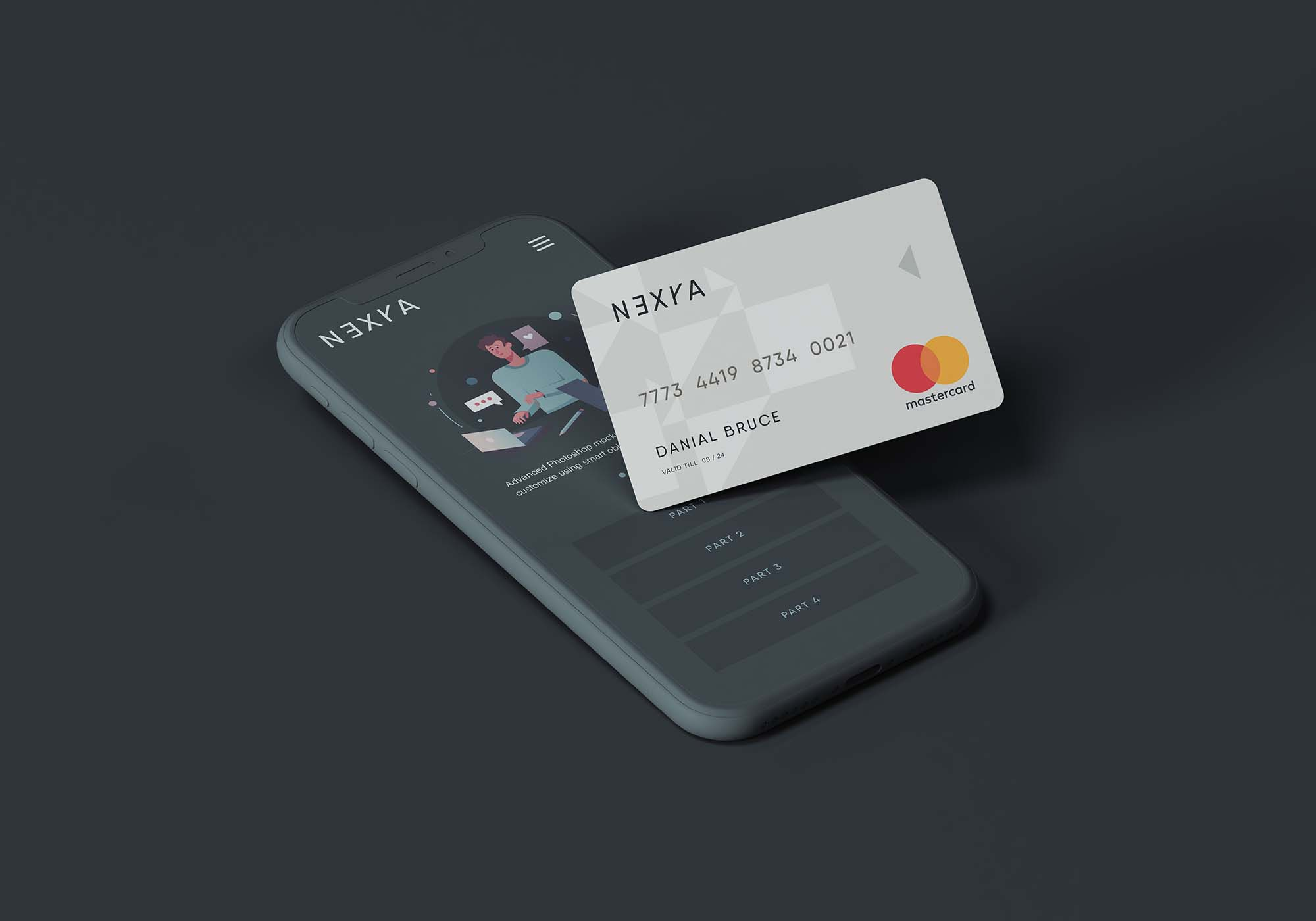 Cell Phone and Credit Card Mockup