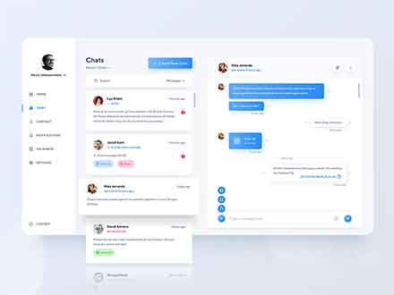 Chat Dashboard UI Template