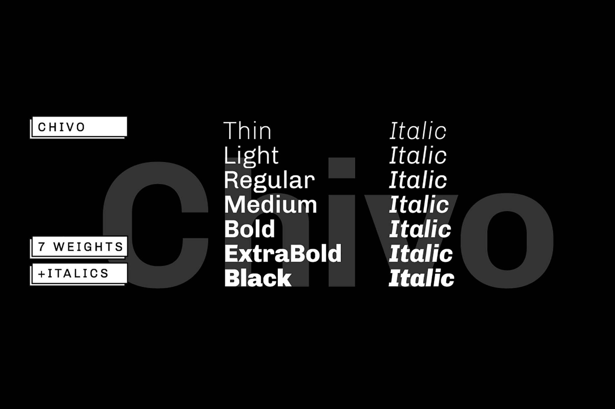Chivo Sans Serif Font 2