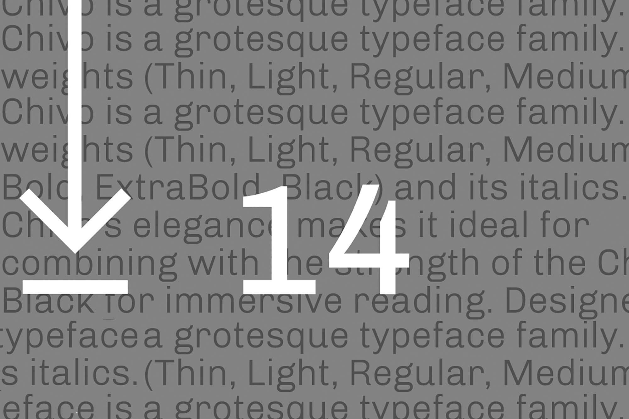 Chivo Sans Serif Font 3