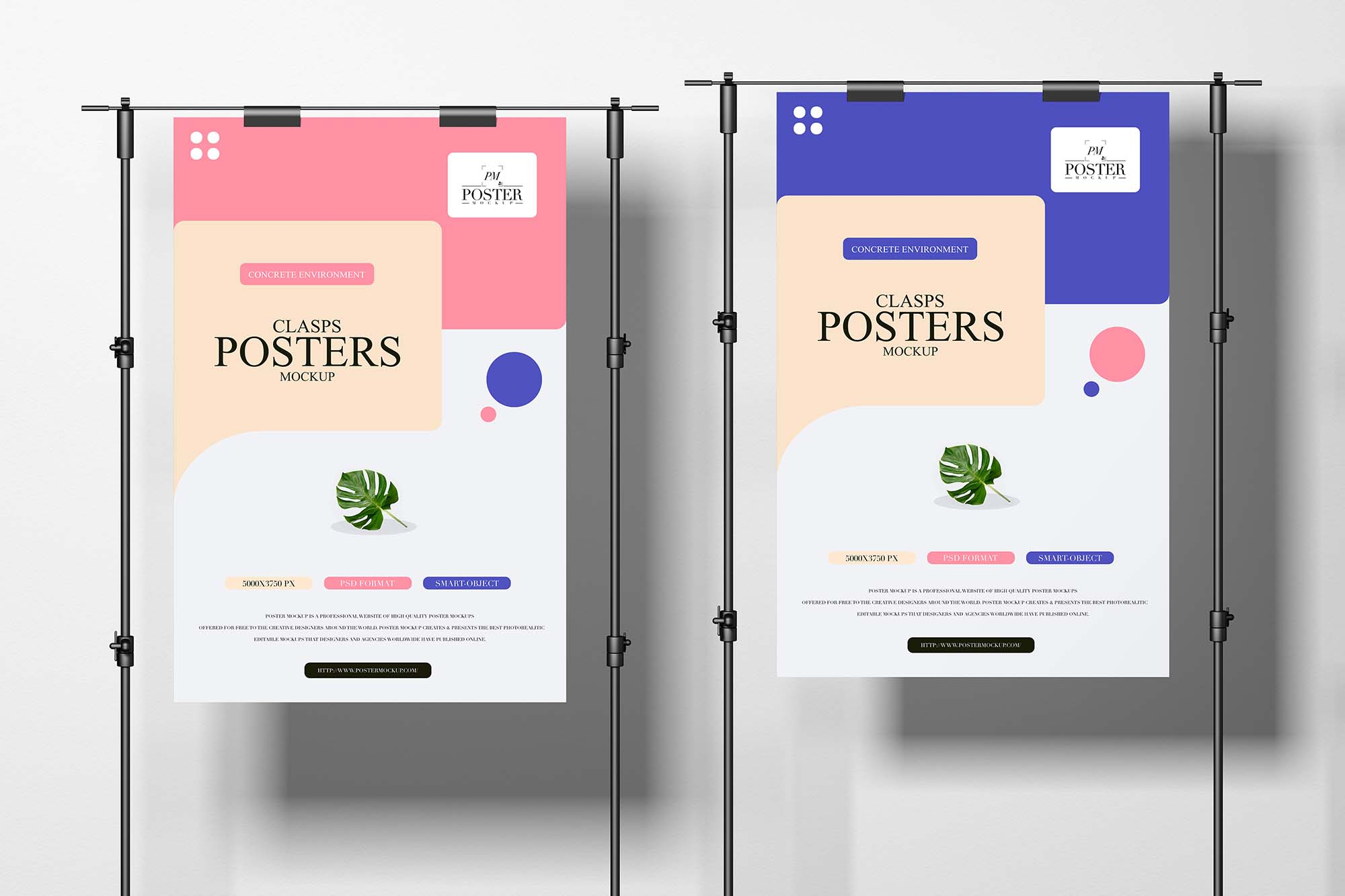 Clasps Posters Mockup