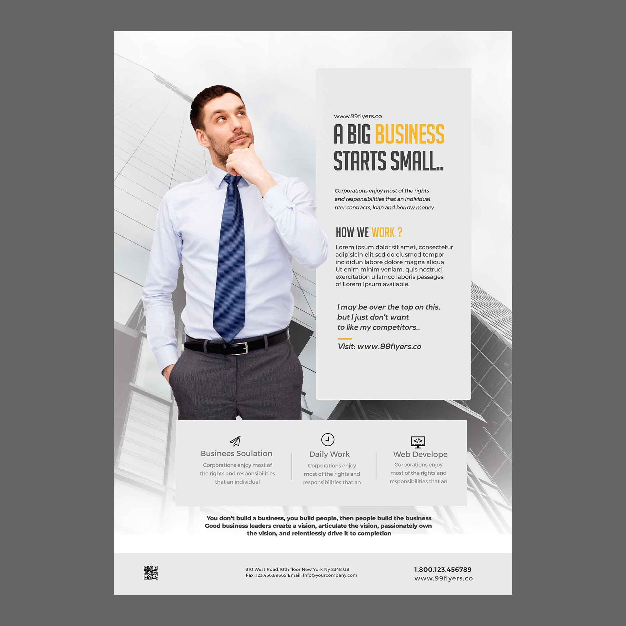 Clean Business Ad Flyer Template 2