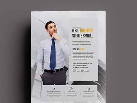 Clean Business Ad Flyer Template