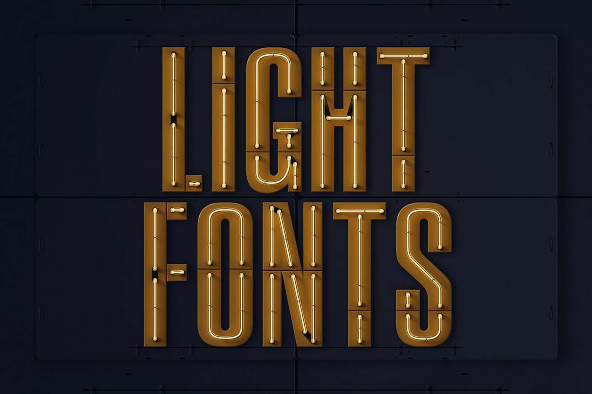 Condensed Neon 3D Lettering 1