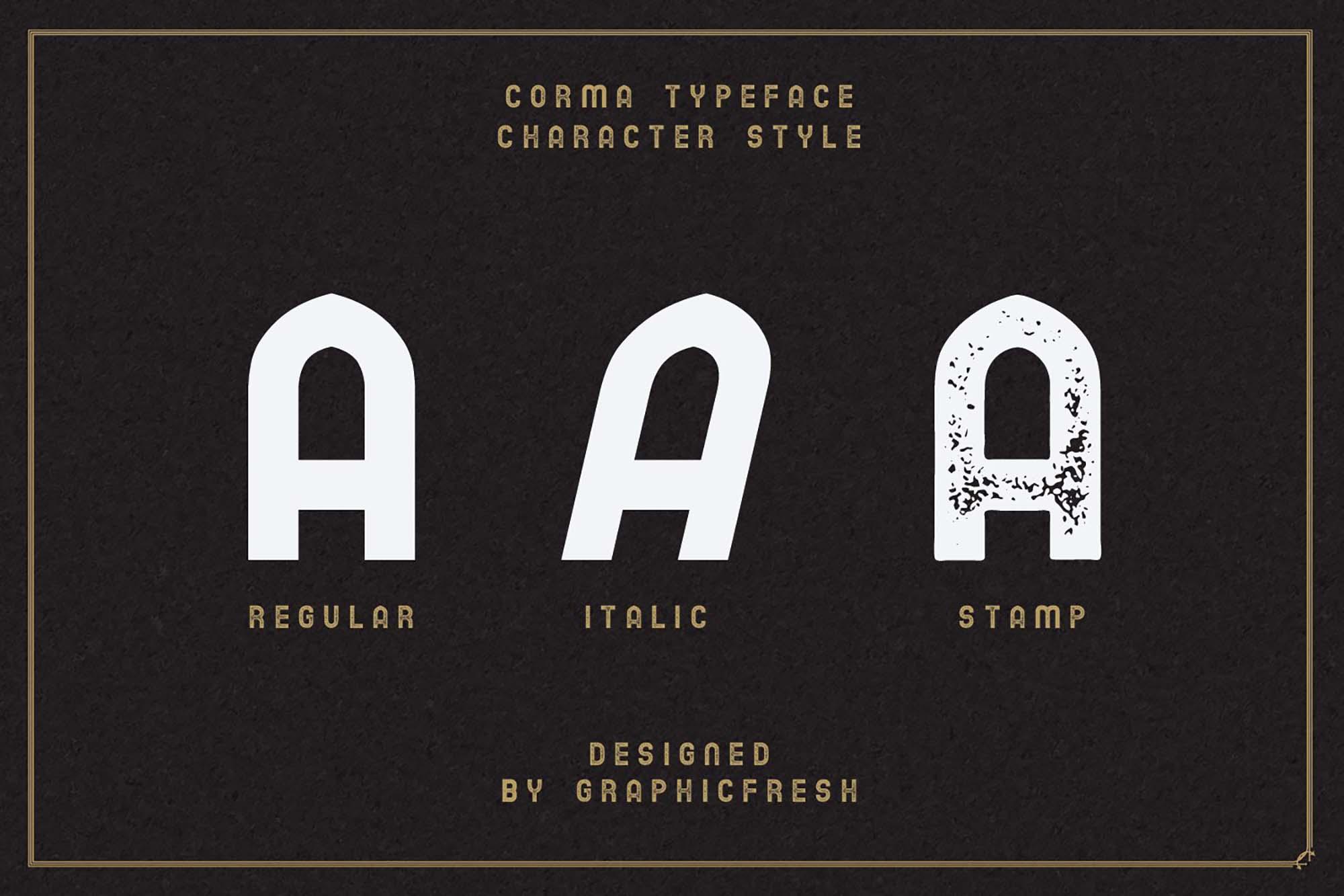 Corma Vintage Font 3