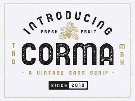 Corma Vintage Font