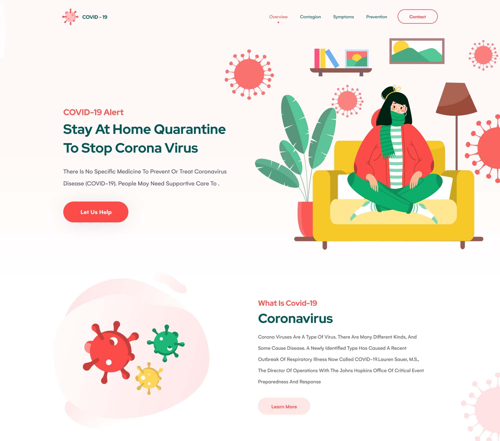 Coronavirus Landing Page Template 1
