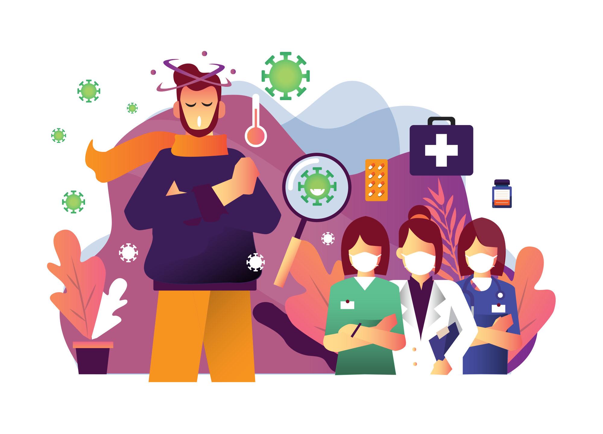 Coronavirus Pandemic Illustration