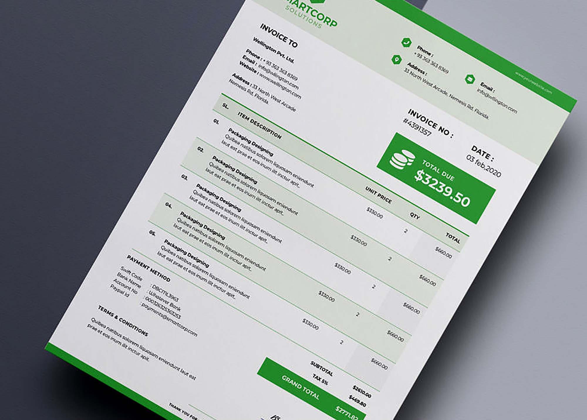 Corporate Invoice Template 2