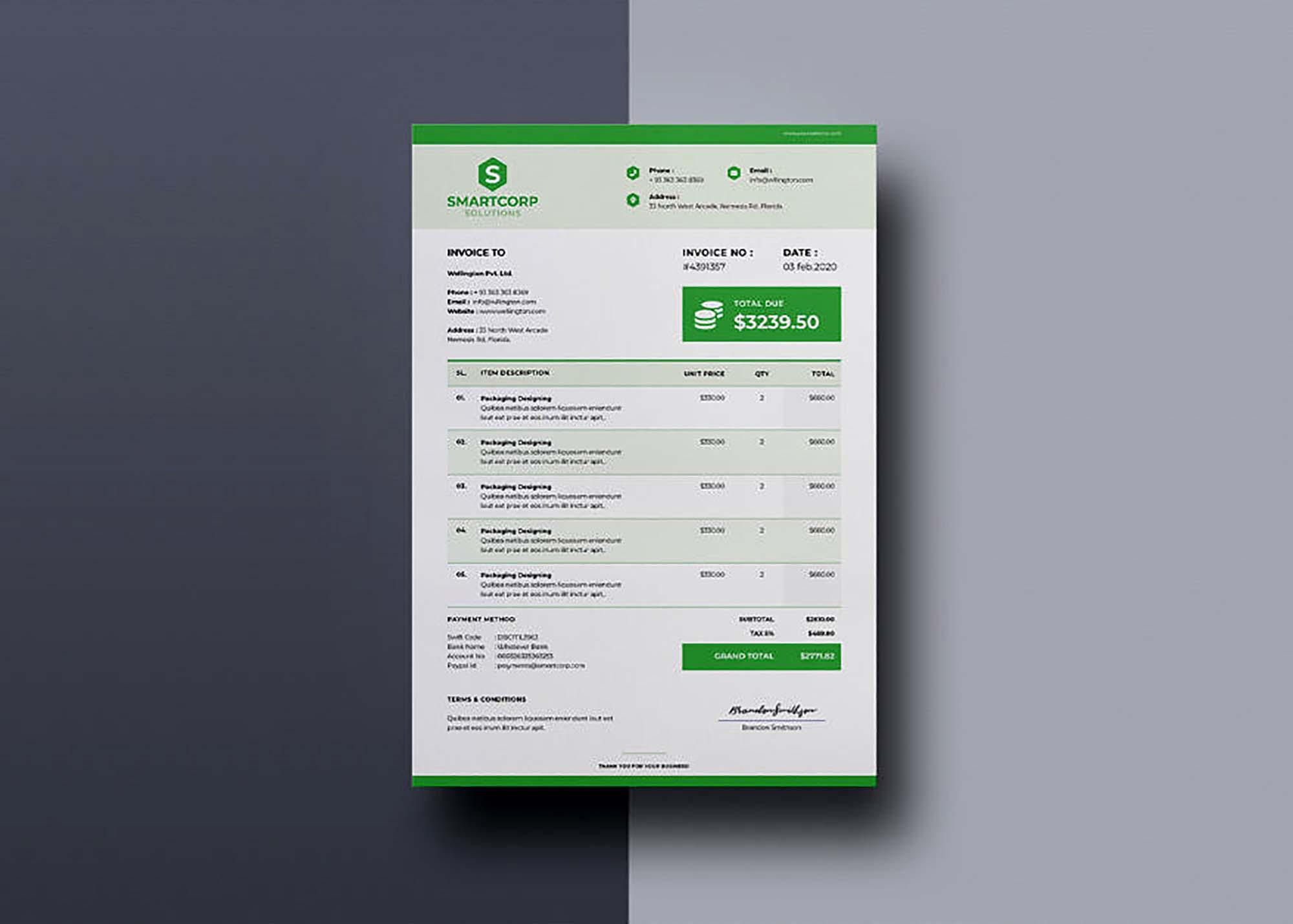 Corporate Invoice Template 3