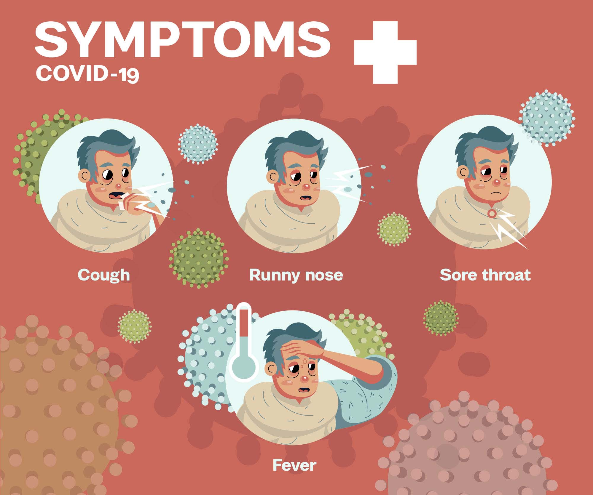Covid 19 Symptoms Illustration