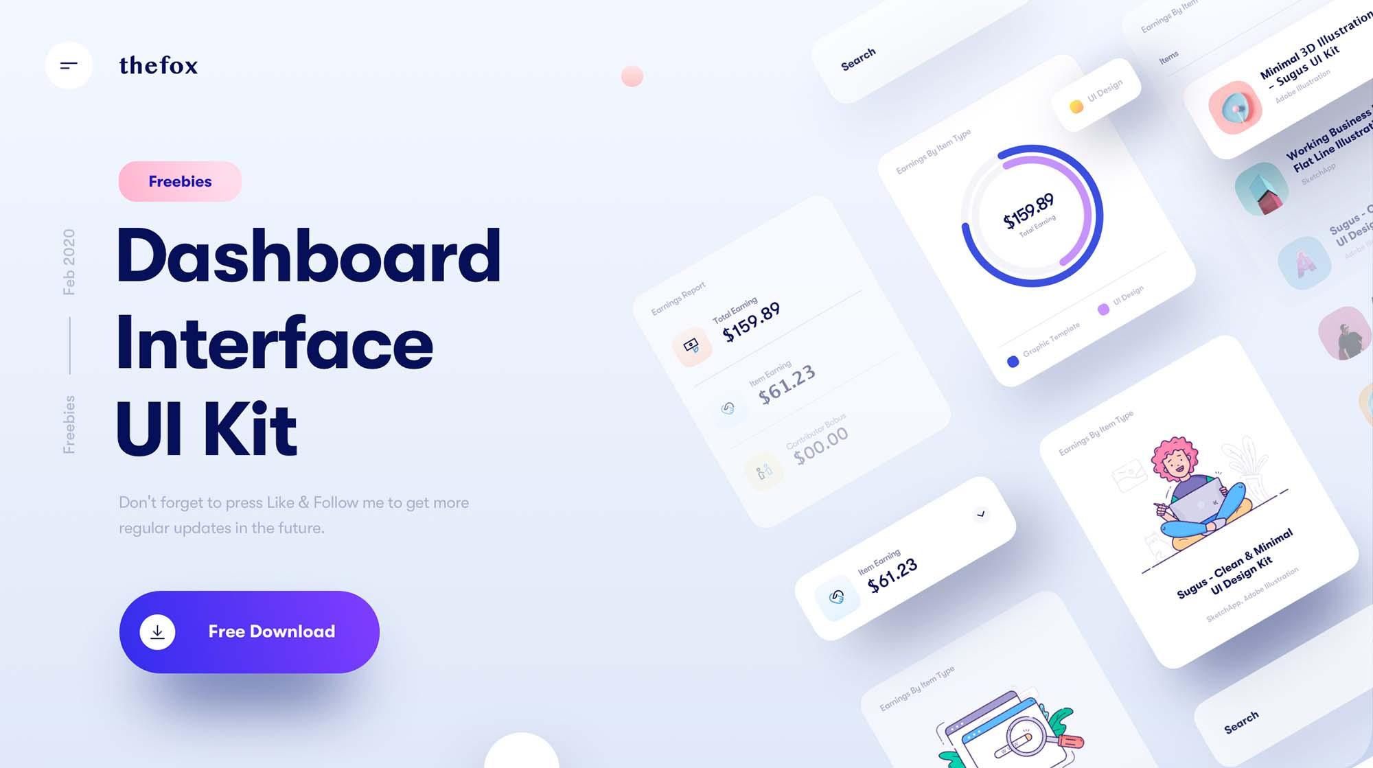 Dashboard Interface UI Kit 2