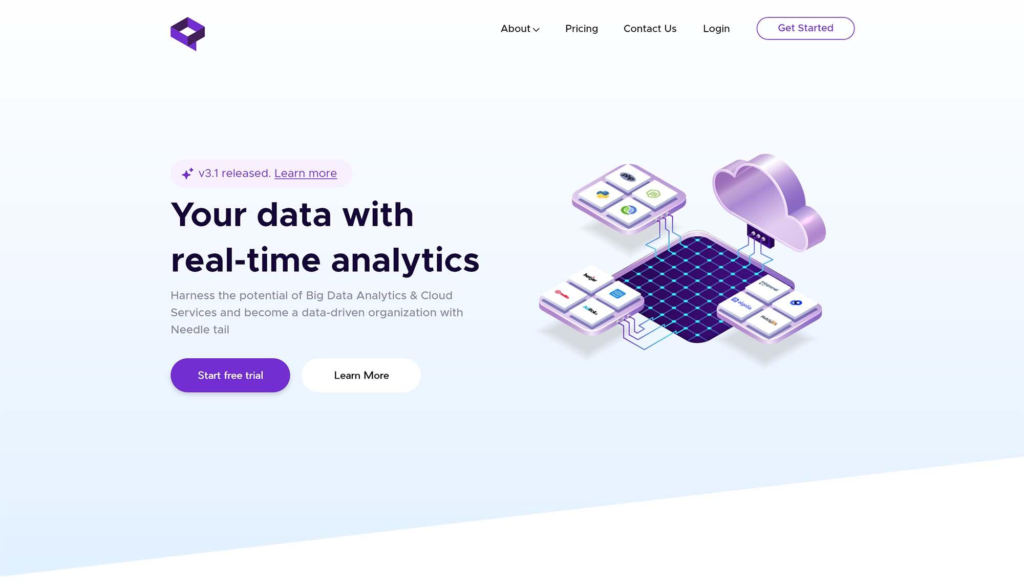 Data Analytics Landing Page Template 1