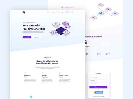 Data Analytics Landing Page Template