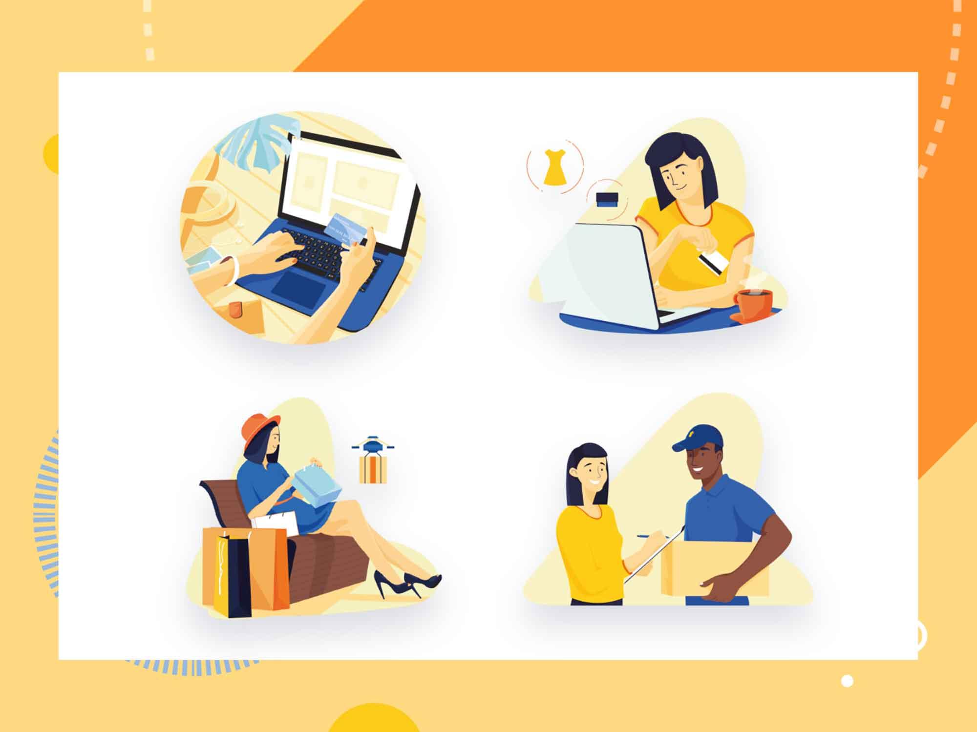 E-commerce Vector Illustrations 3