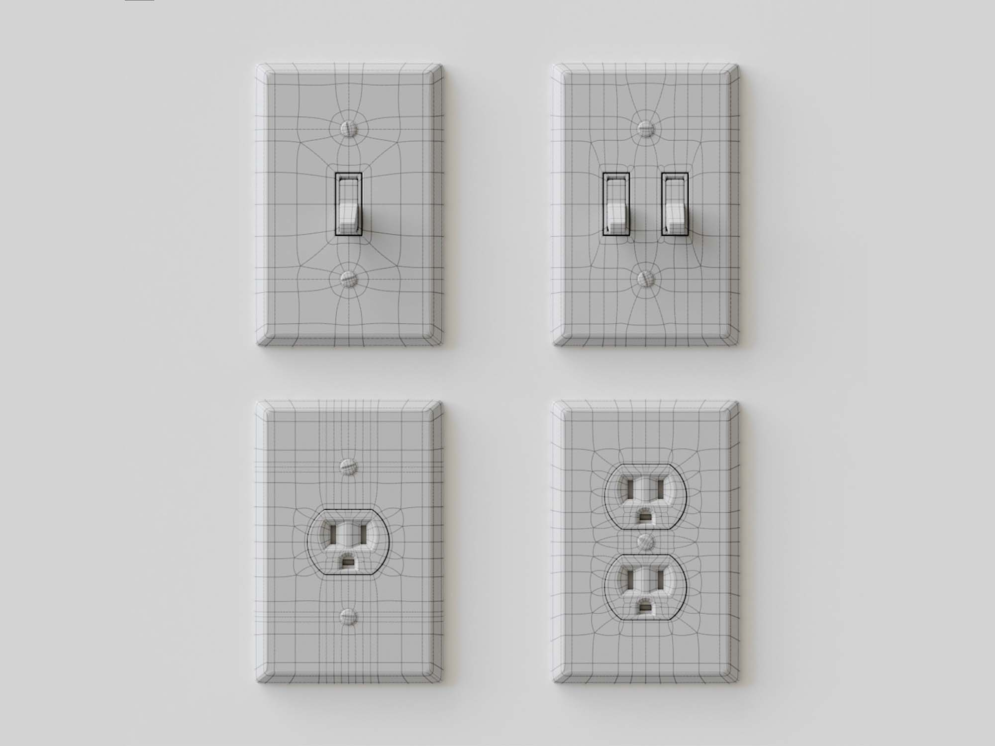 Electrical Light Switches 3D Models 2