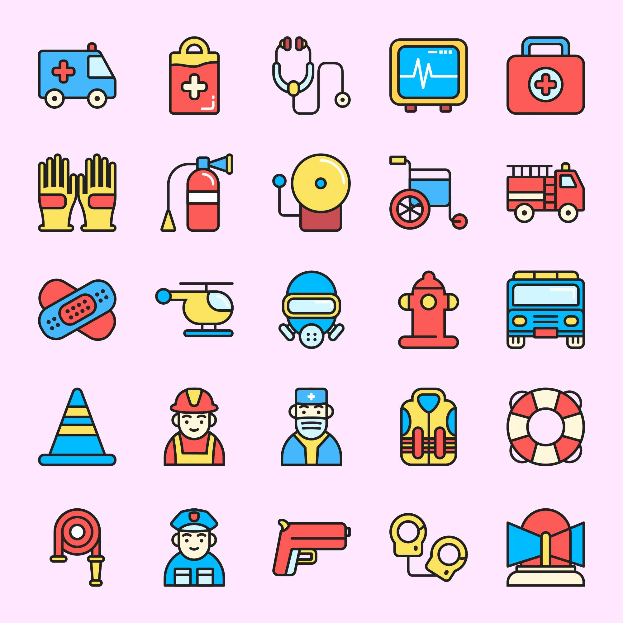 Emergency Colored Icons