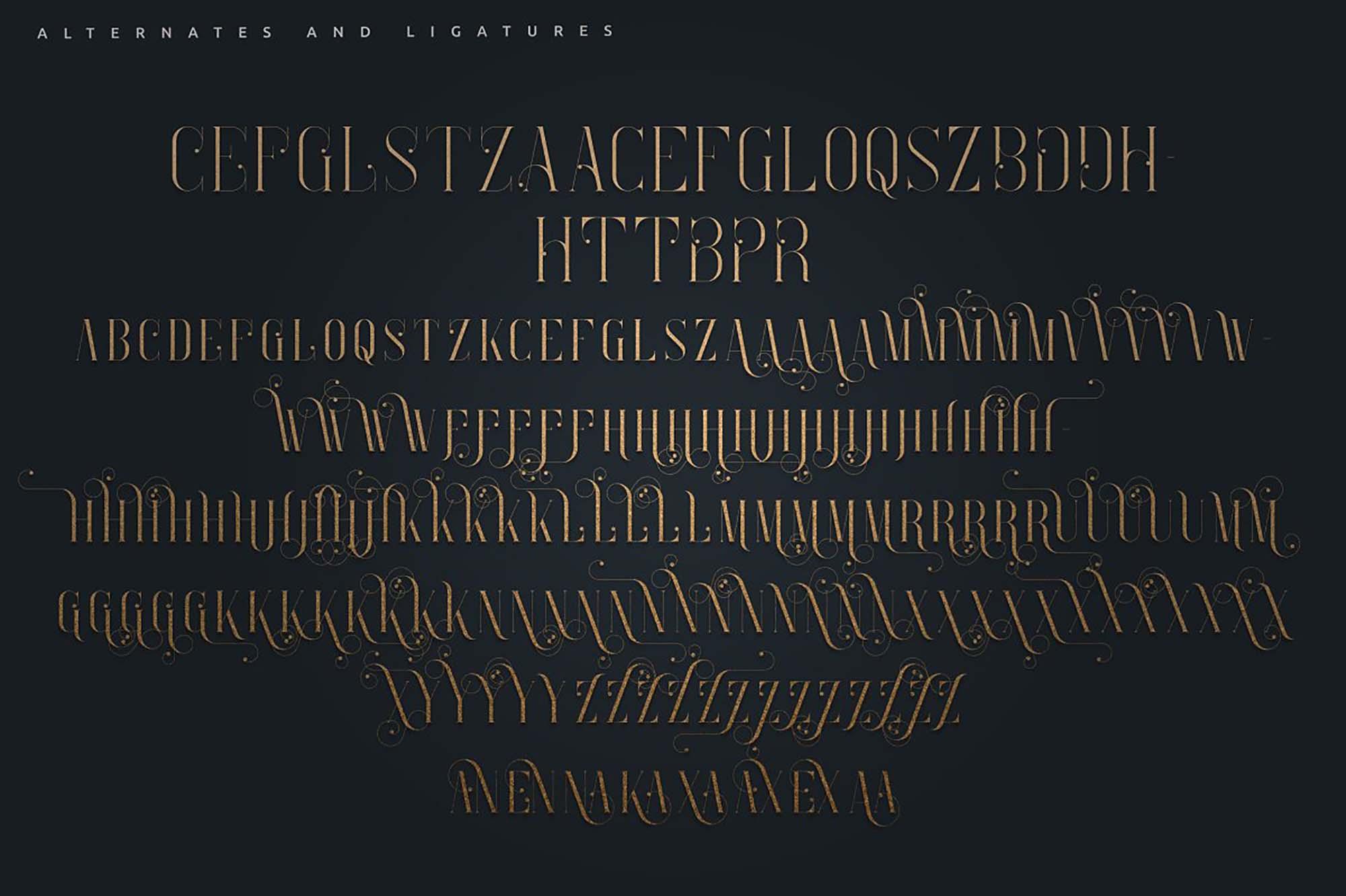 Enchants Magical Serif Font 10