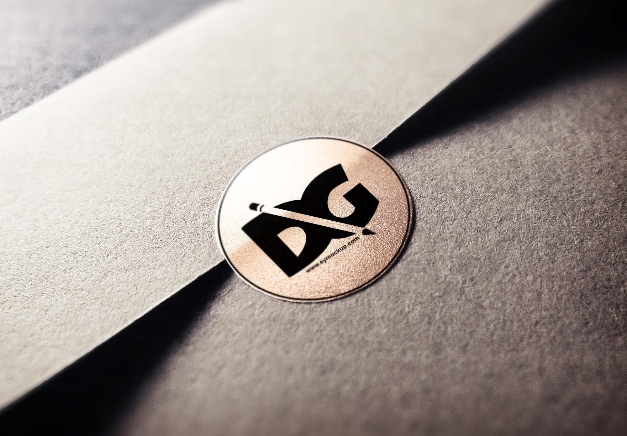 Envelope Stamp Logo Mockup