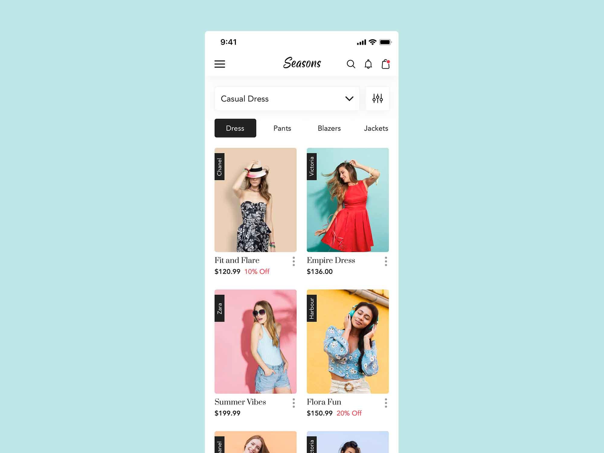 Fashion App Template 2