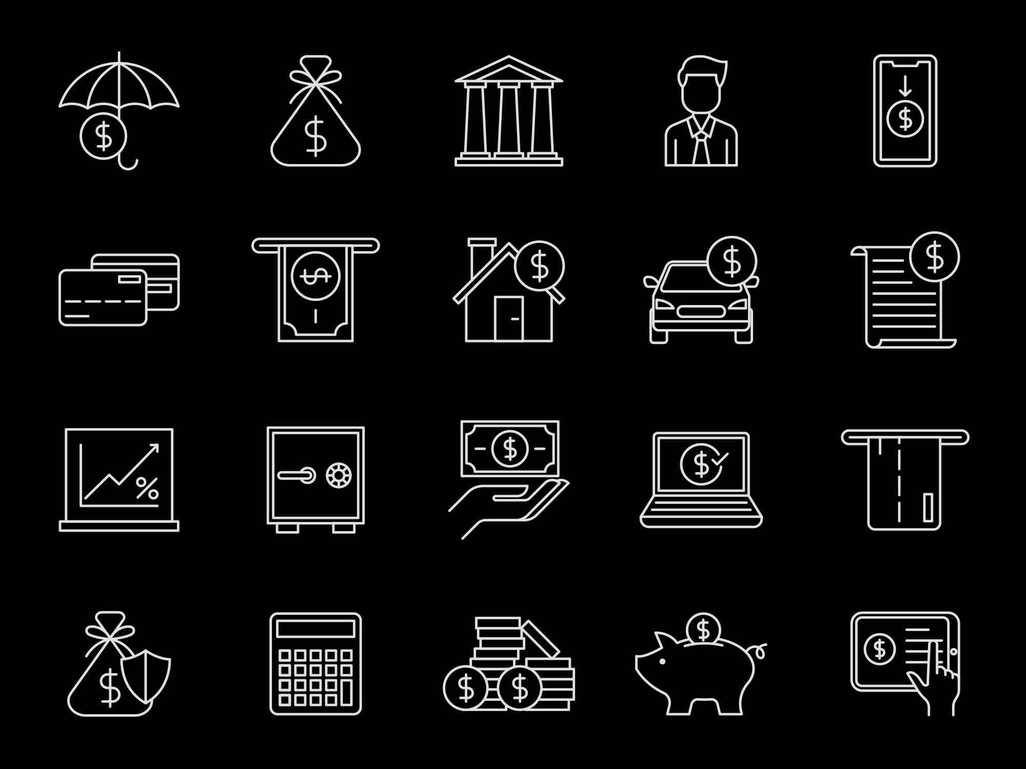 Finance Vector Icons 2