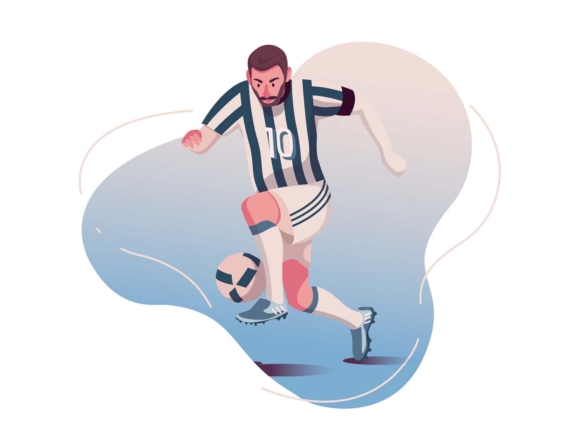 Football Player Vector Illustration