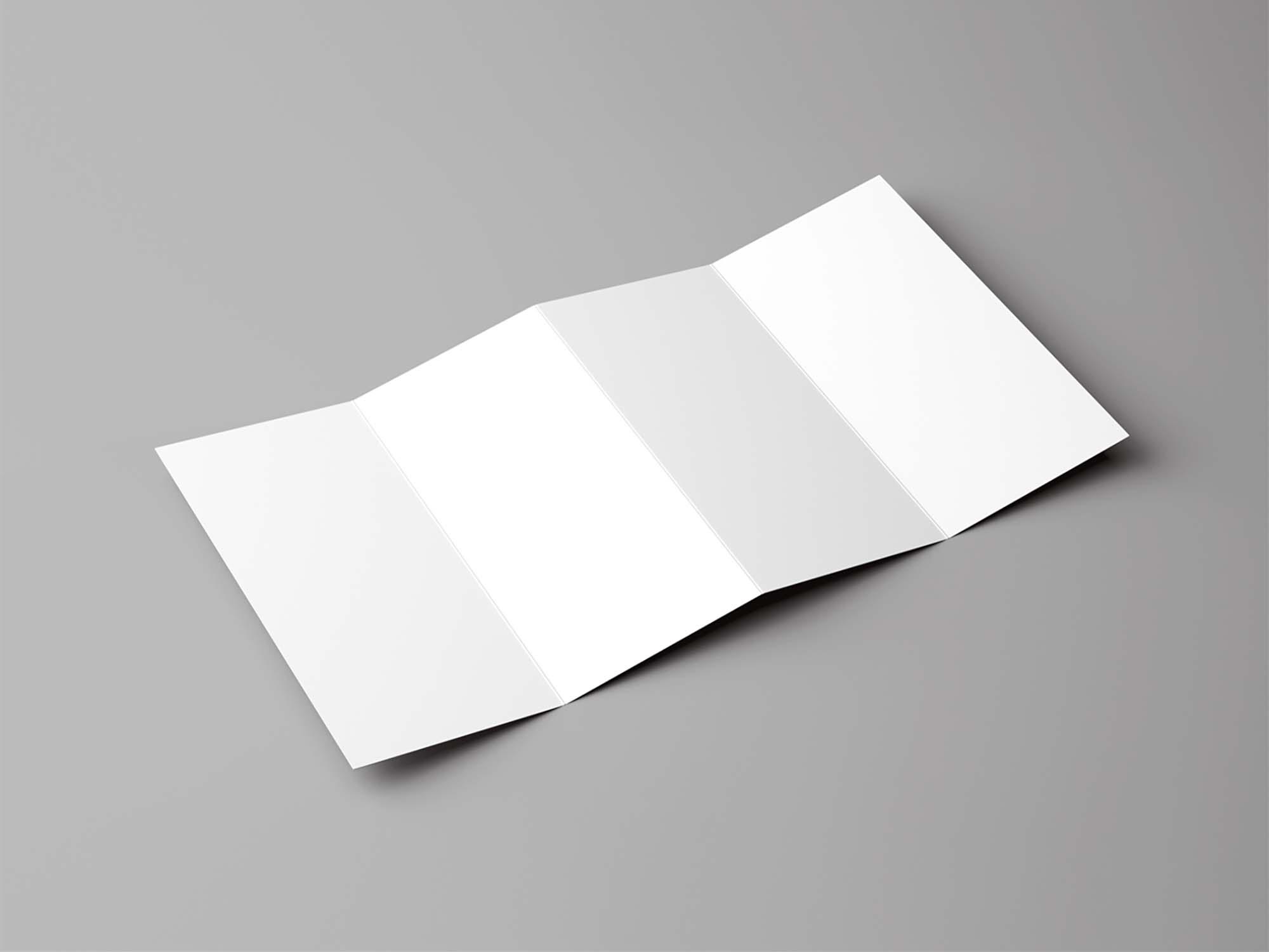 Four Fold Brochure Mockup 2