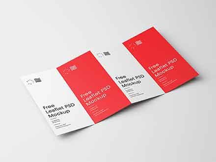 Four Fold Brochure Mockup